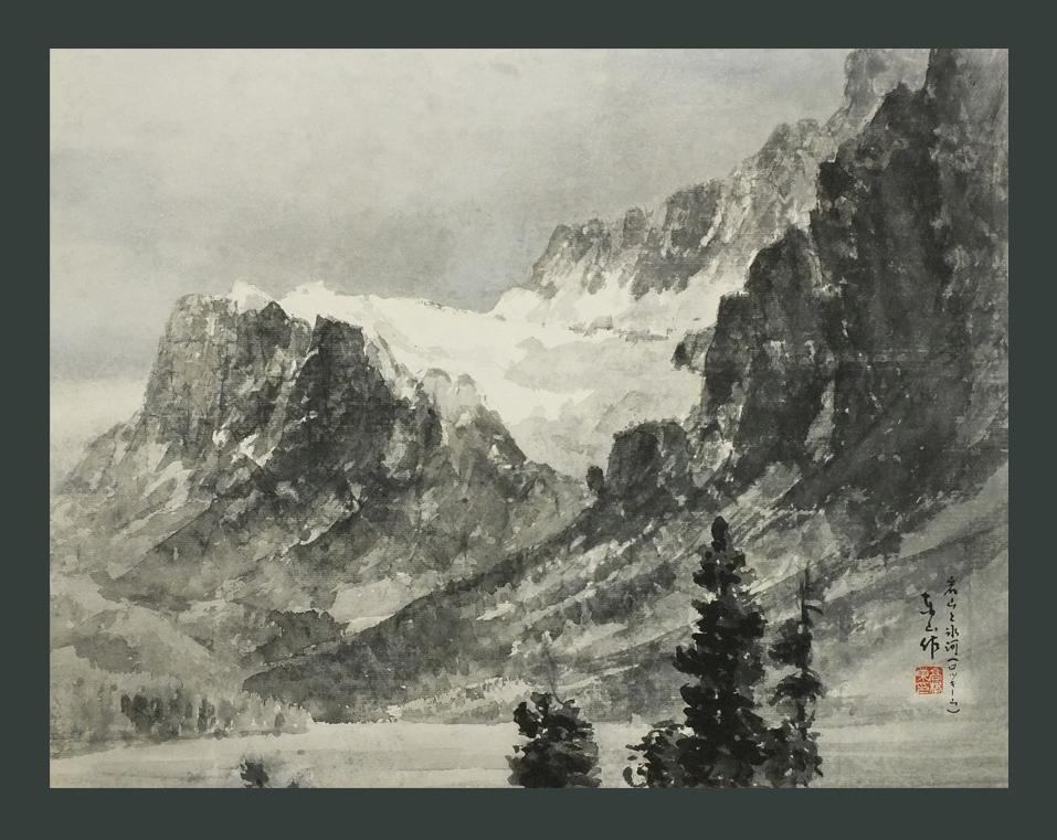 ●岩山と氷河ロッキー山 8号