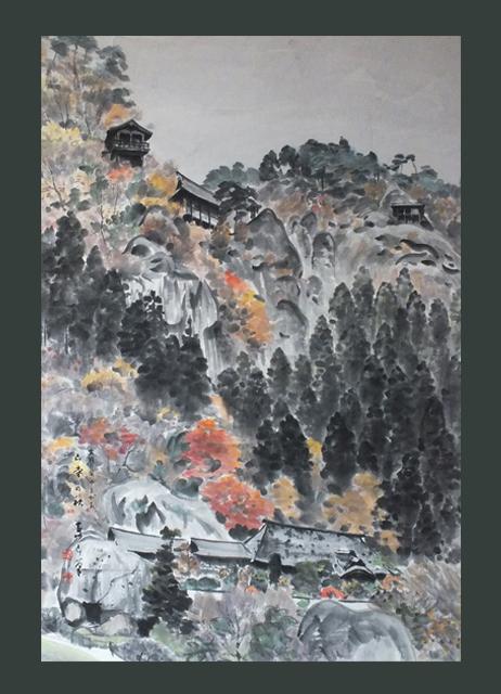 ●山寺の秋 50号