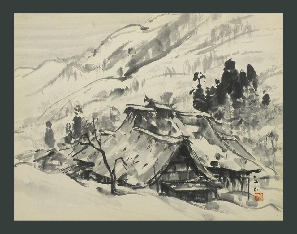 ●民家雪景 6号