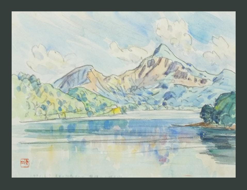 ●磐梯山と桧原湖