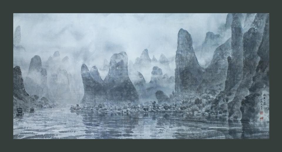 ●漓江の霧 100号