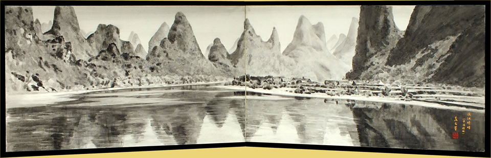 The Li River clear scene.